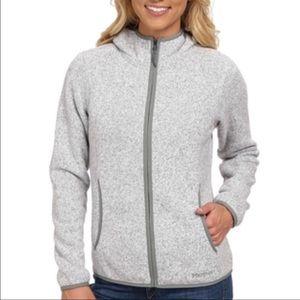 Marmot Norhiem Gray Fleece Hooded Jacket Large